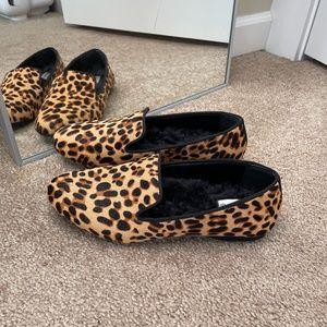 Birdies Cheetah Calf-hair Starling Loafers Sz 6.5